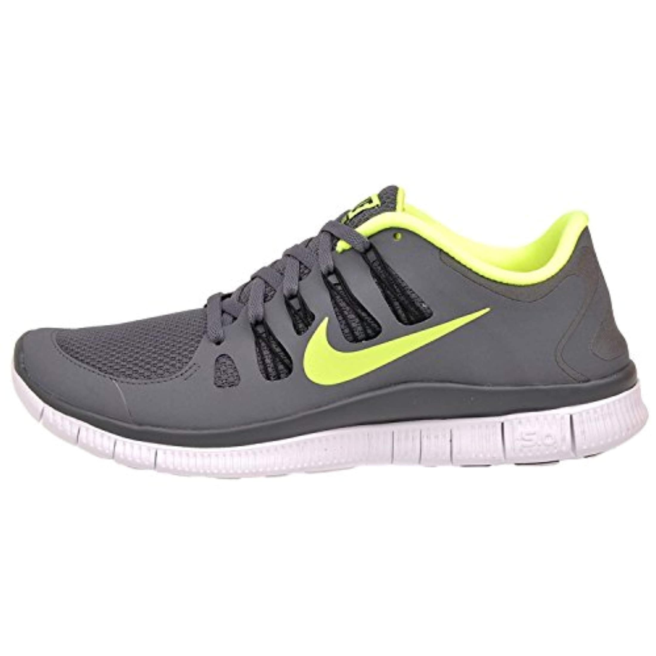 huge discount 62e65 8b0fe Shop Nike Men s Free 5.0 Plus, Dark Grey Volt Black White - Free Shipping  Today - Overstock - 27432935