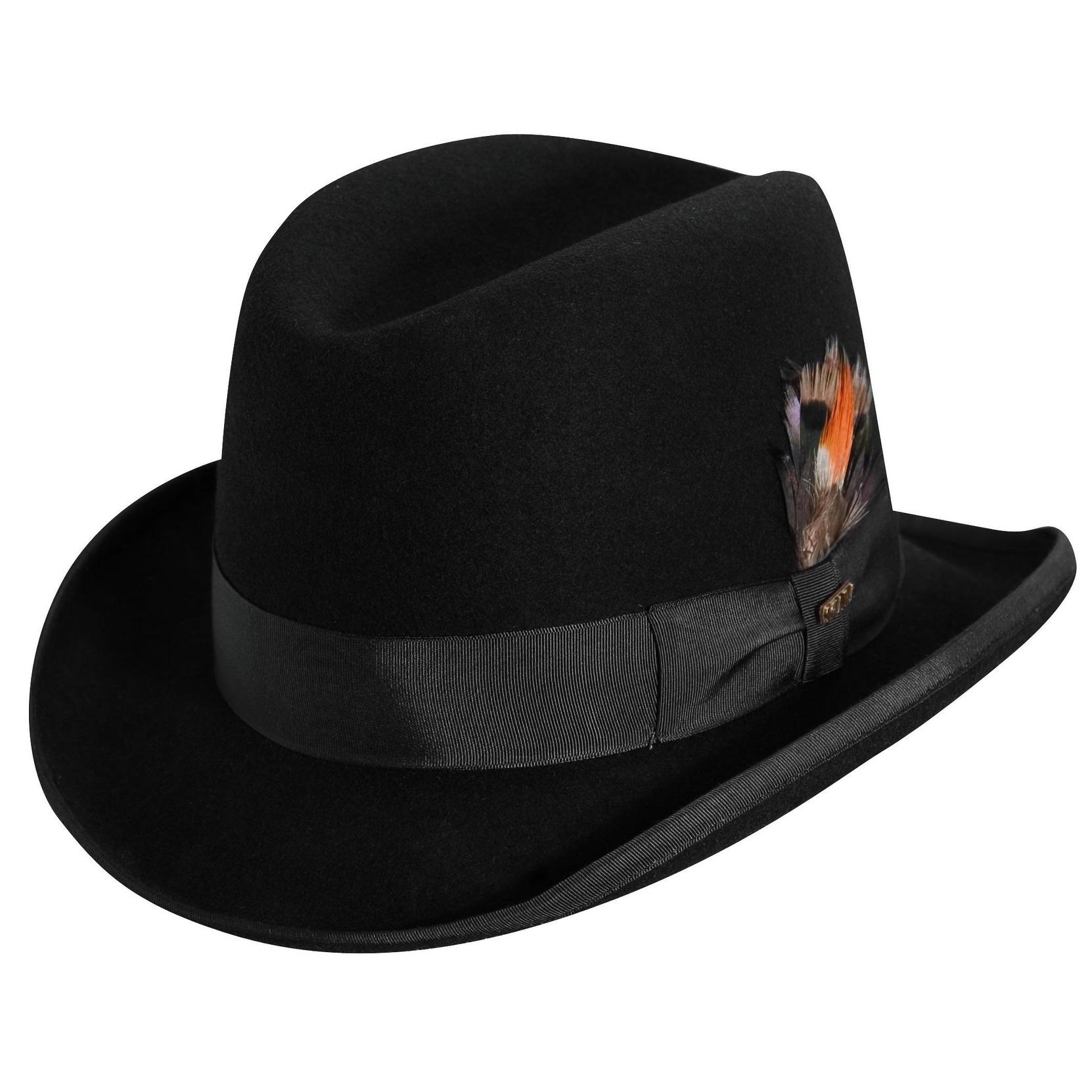 40d039b3d23 Shop Scala Men s Wool Felt Winter Homburg Hat - Free Shipping On Orders  Over  45 - Overstock - 14279038