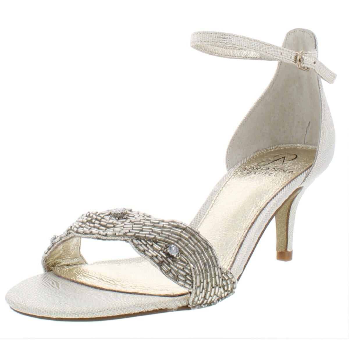 dde10482dc3e Shop Adrianna Papell Womens Aerin Evening Heels Beaded Open Toe - Free  Shipping Today - Overstock - 21162303