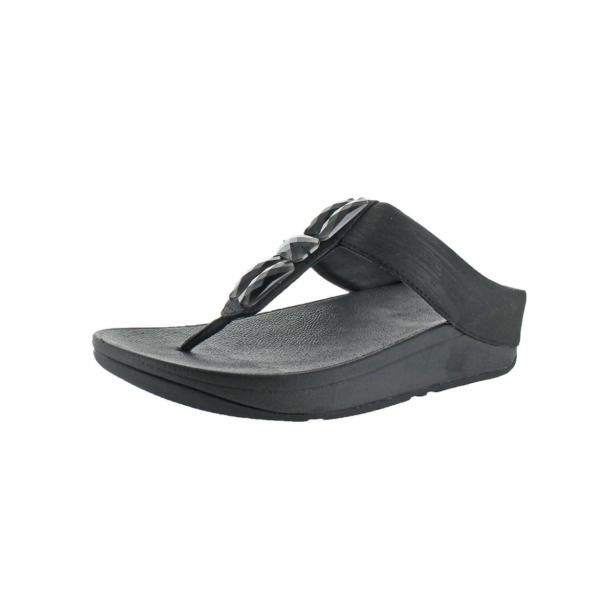 3e7c37443c792 Fitflop Womens Sweetie Thong Sandals Man Made Slip On