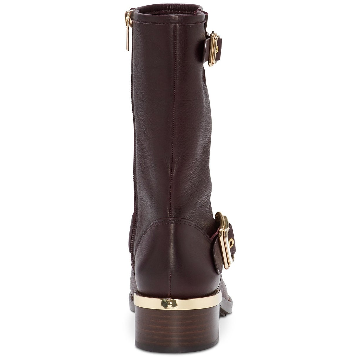 8ba04776dbf Vince Camuto Womens Windy Leather Round Toe Mid-Calf Motorcycle Boots