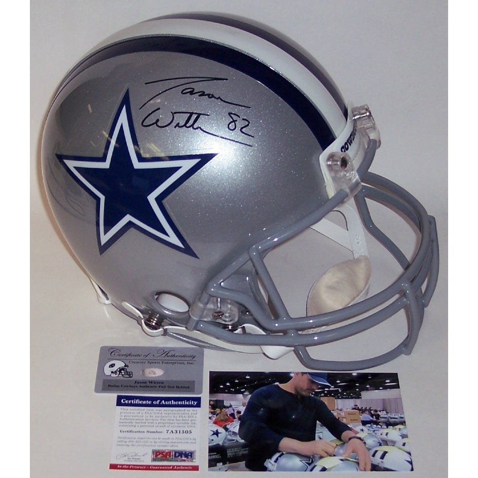 f1e7a00da Shop Jason Witten Autographed Hand Signed Dallas Cowboys Full Size  Authentic Helmet - PSA/DNA - Free Shipping Today - Overstock - 12784914
