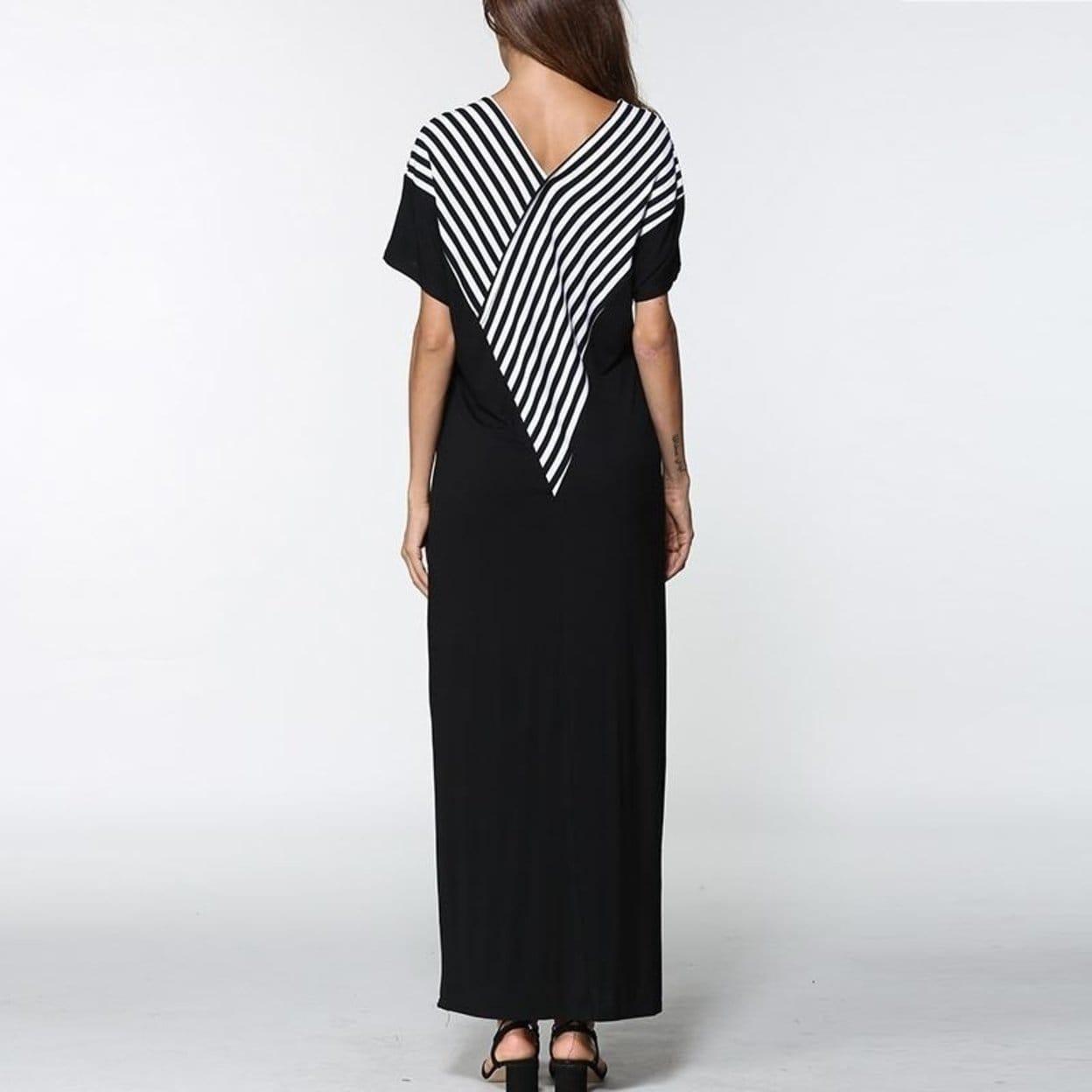 c04df7a55b2 Shop Tigena Loose Striped Summer Dress Women 2018 Floor Length Dresses Big  Sizes Long Maxi Dress Summer Sundress Robe Femme - Free Shipping Today ...