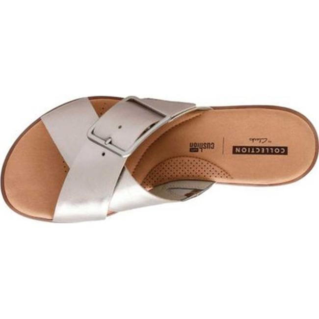 70d8083ac77 Shop Clarks Women s Kele Heather Slide Pewter Full Grain Leather - Free  Shipping Today - Overstock - 20590143