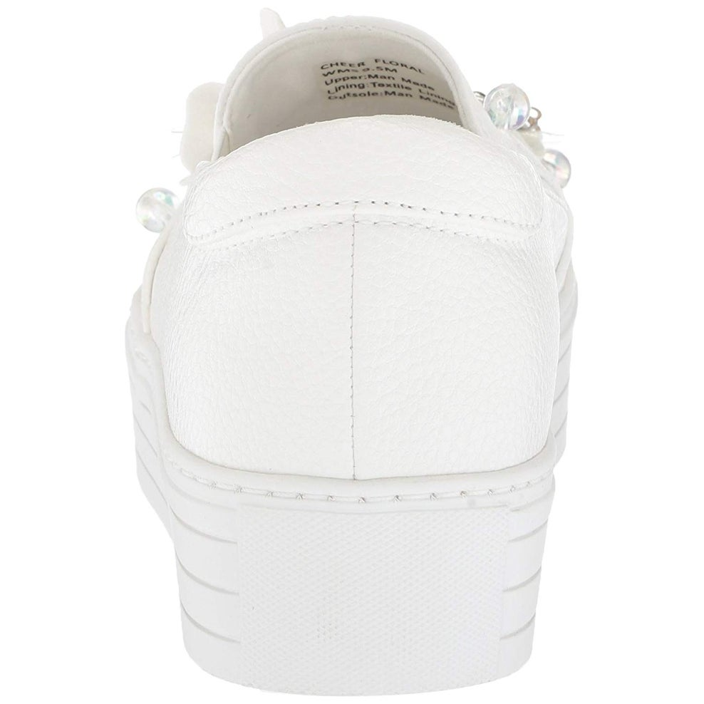 01bb53897848f Kenneth Cole Reaction Womens Cheer Floral Low Top Slip On Fashion Sneakers  - 9.5