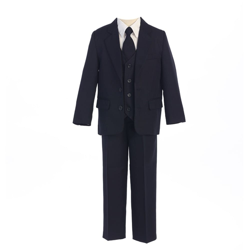 Johnathan Strong Boys Vest Red Shirt Suit 2T, black