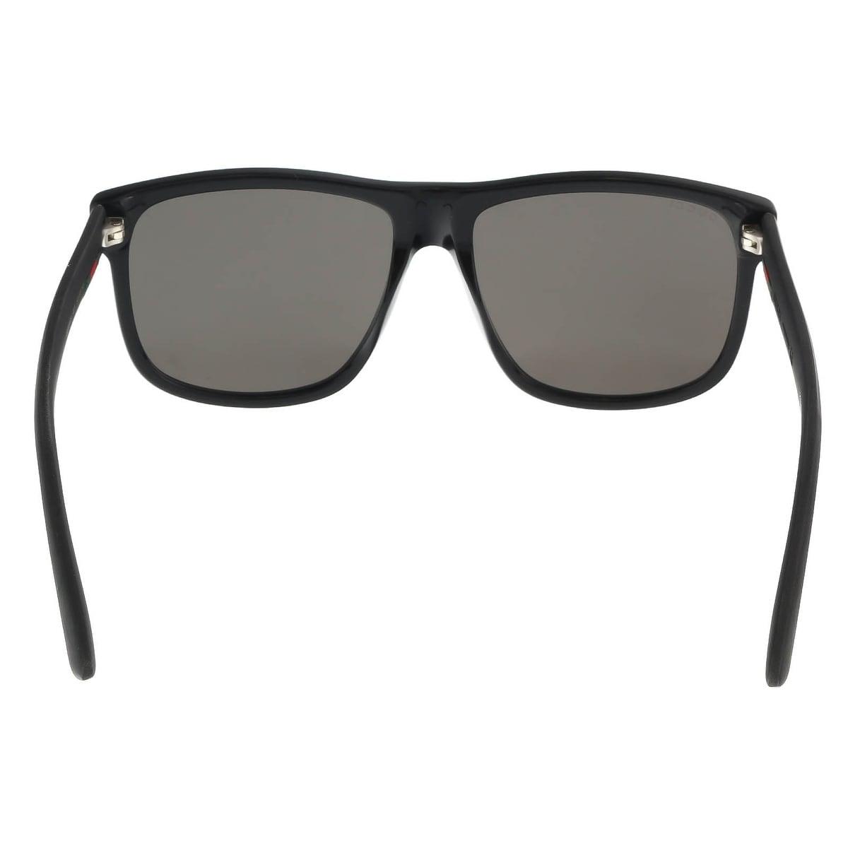 4e062b05214 Shop Gucci GG0010S 001 Black Square Sunglasses - 58-16-145 - Free Shipping  Today - Overstock - 18235788