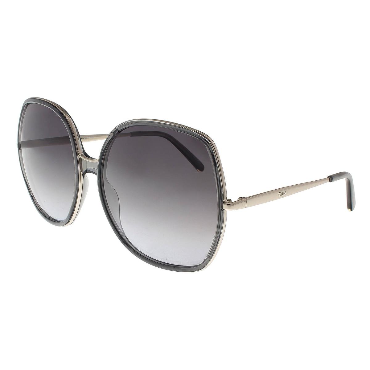 78d847825ed Shop Chloe CE725 S 036 Dark Grey Square Sunglasses - 62-17-135 ...
