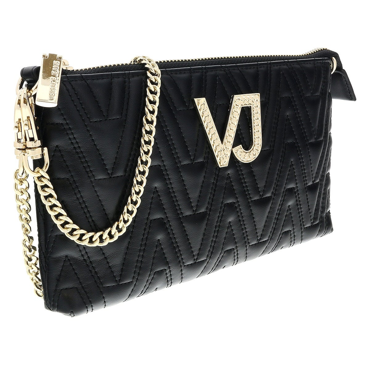 98ee261d202 Versace EE3VSBPI4 E899 Black Quilted Pouch Wallet - 9-5-1