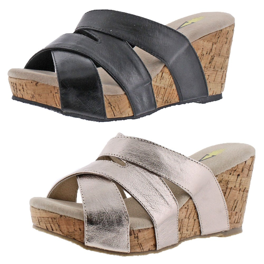 97bc7adea6987 Shop Volatile Leona Women s Slide Cork Wedge Sandals - Free Shipping On  Orders Over  45 - Overstock - 20636500