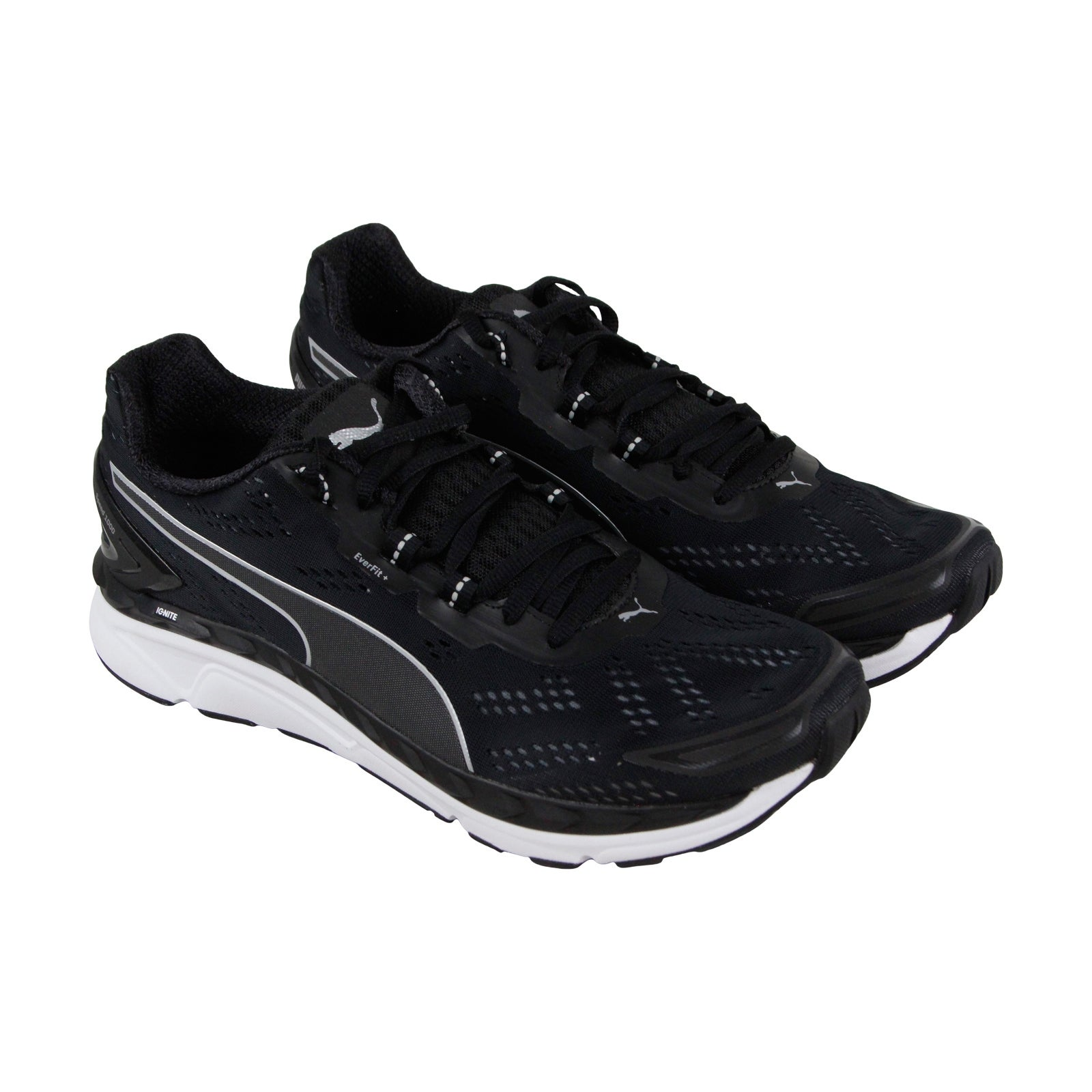 febdbd9d8bd Puma Speed 1000 Ignite Mens Black Textile Athletic Lace Up Running Shoes