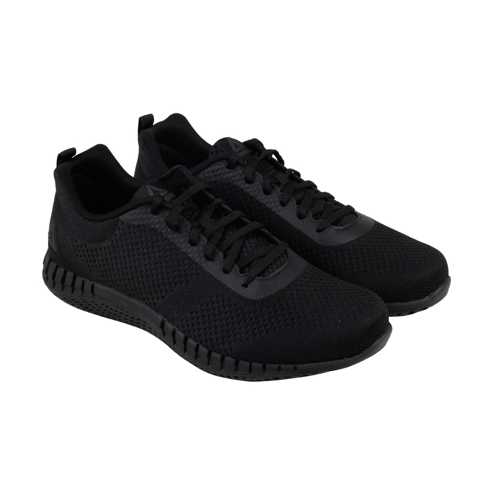 Reebok Print Run Prime Ultraknit Mens Black Mesh Athletic Running Shoes