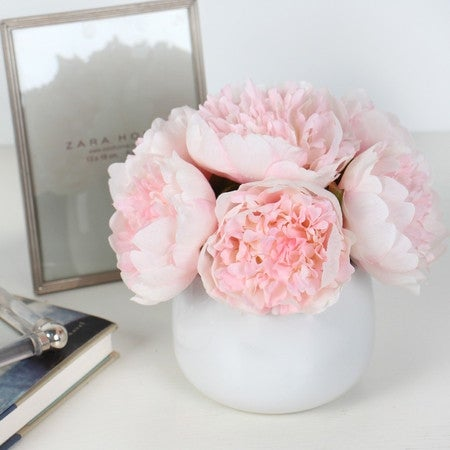 Shop g home collection luxury light pink peony flower arrangement shop g home collection luxury light pink peony flower arrangement free shipping on orders over 45 overstock 16625478 mightylinksfo