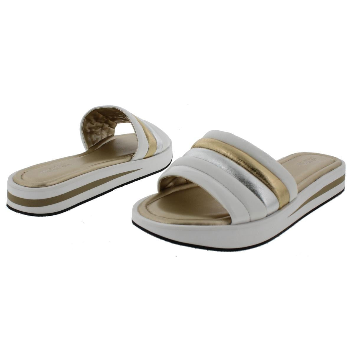 d51b1551cded Shop MICHAEL Michael Kors Womens Conrad Slide Slide Sandals Metallic  Platform - 10 medium (b