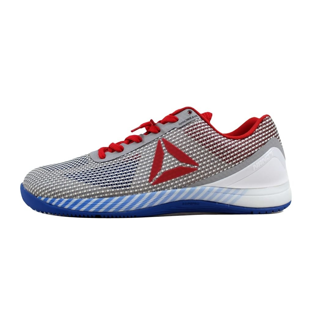 Shop Reebok Men s Crossfit Nano 7.0 White Blue-Red-Black-Skull BD5824 -  Free Shipping Today - Overstock - 22340240 370cc3b1b
