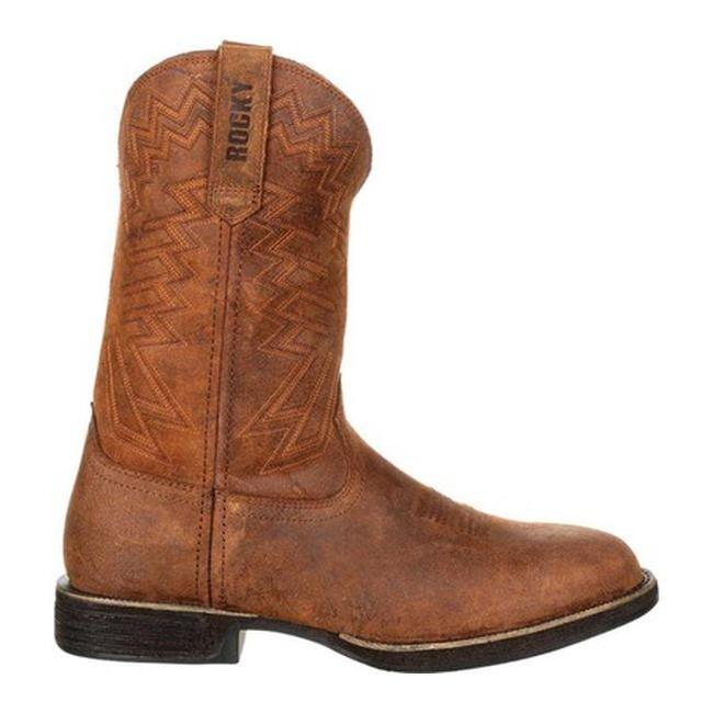 80d0b9c7767 Rocky Men's Renegade Western Boot RKW0226 Dark Brown Full Grain Leather