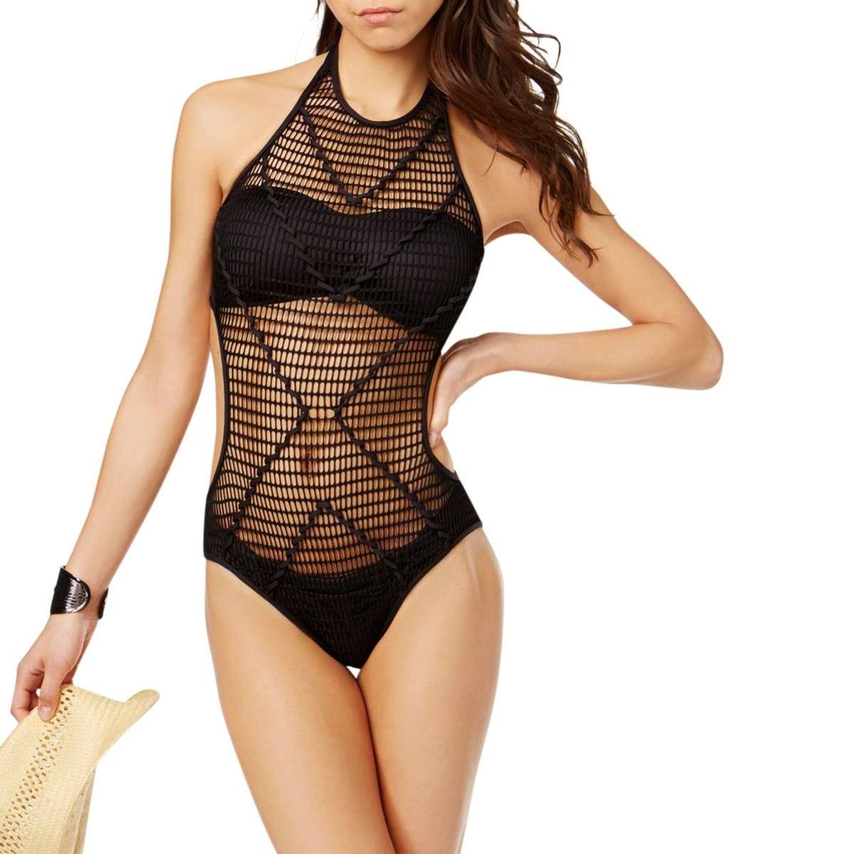 f4fda06db0 Shop Kenneth Cole Womens Wrapped In Love Crochet High-Neck Monokini Swimsuit  - Free Shipping On Orders Over $45 - Overstock - 22022758