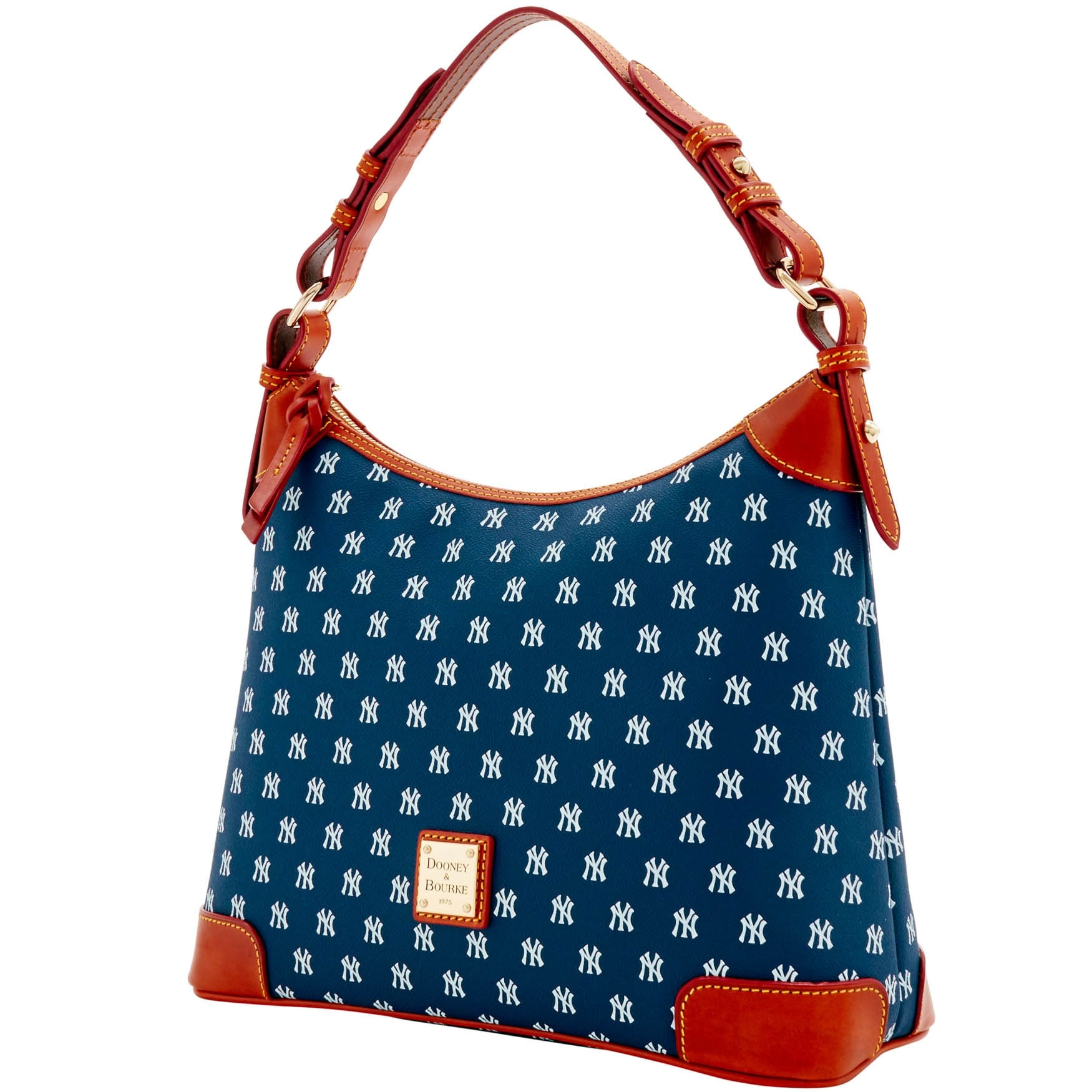 6d0ffaf057a3 Shop Dooney   Bourke MLB New York Yankees Hobo Shoulder Bag (Introduced by  Dooney   Bourke at  218 in Feb 2015) - Free Shipping Today - Overstock -  23141406