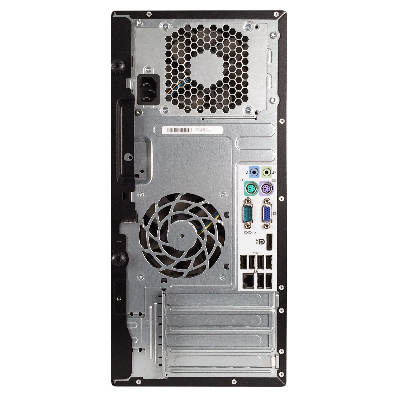 HP Compaq Pro 6305 Tower AMD A4-5300B 3 4G 8GB DDR3 2TB HDD DVD  W10P64(EN/ES)-1 Year Warranty (Refurbished)-Black/silver