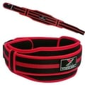 "Neoprene Weight Lifting Belt Back Support Gym Training 5"" Wide Black Red BT6"