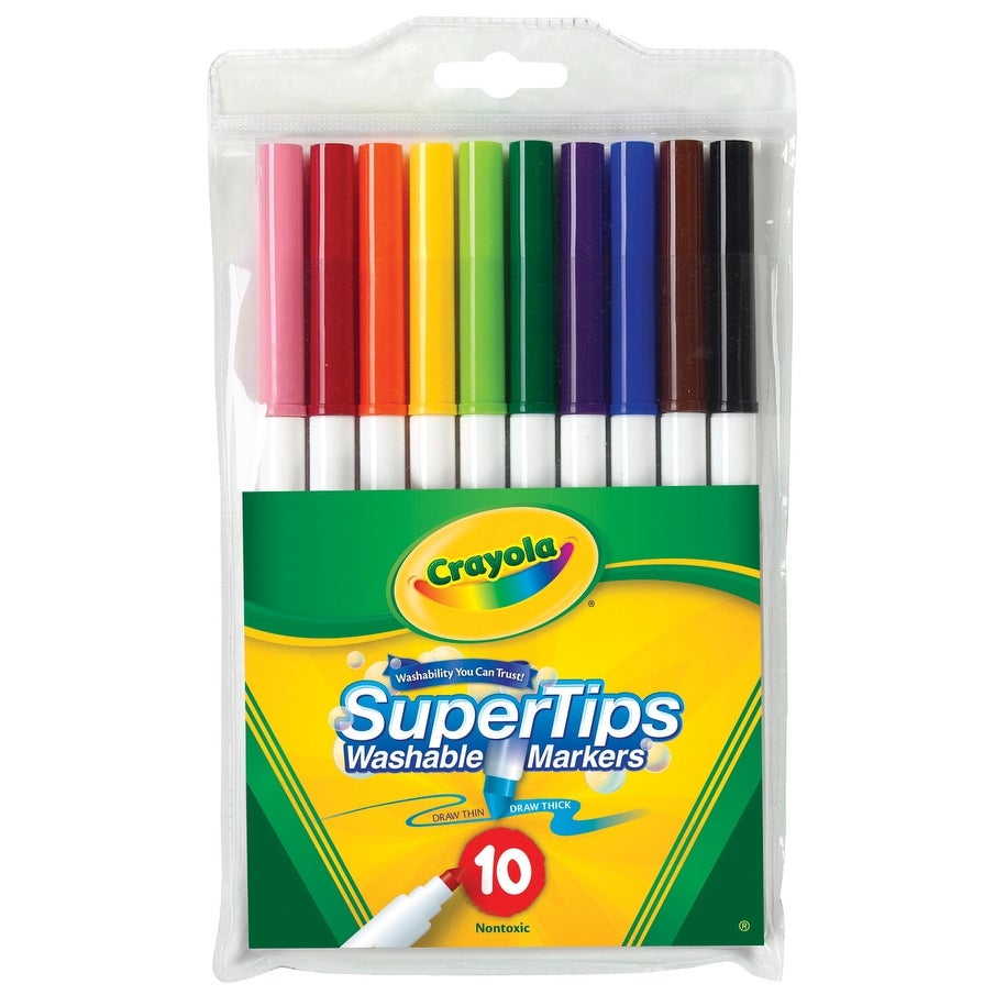 shop crayola non toxic washable marker set super tip assorted