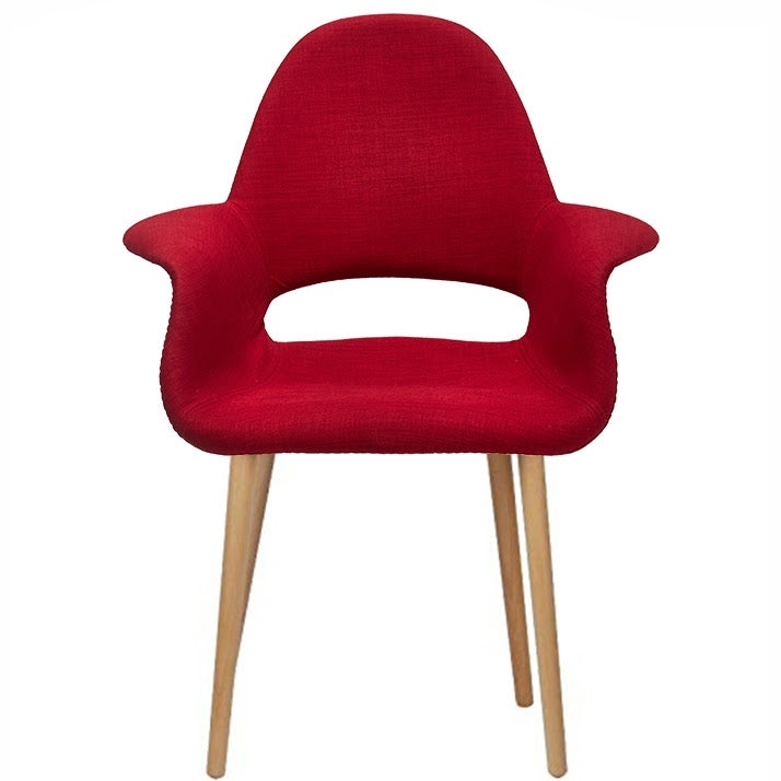2xhome Fabric Mid Century Modern Accent Chairs Natural Leg In Red Set Of 2 Free Shipping Today 17433171