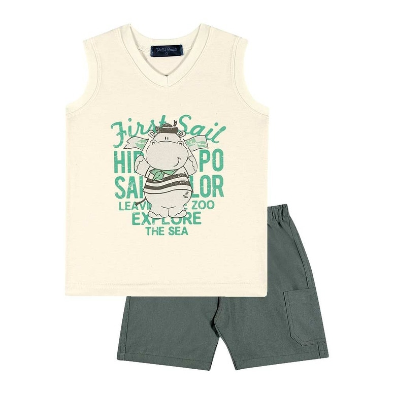 fc2c03ca7250 Shop Baby Boy Outfit Graphic Tank Top V-Neck and Shorts Set Pulla ...