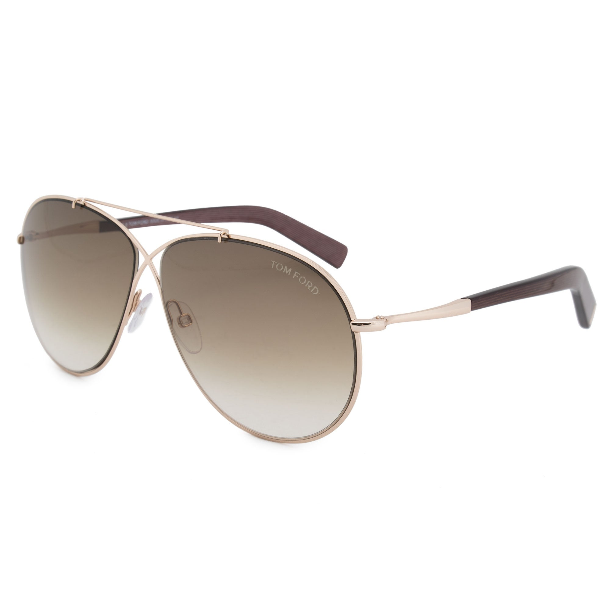 d1297007d90 Shop Tom Ford Eva Pilot Sunglasses FT0374 28F 61 - Free Shipping Today -  Overstock - 24239738