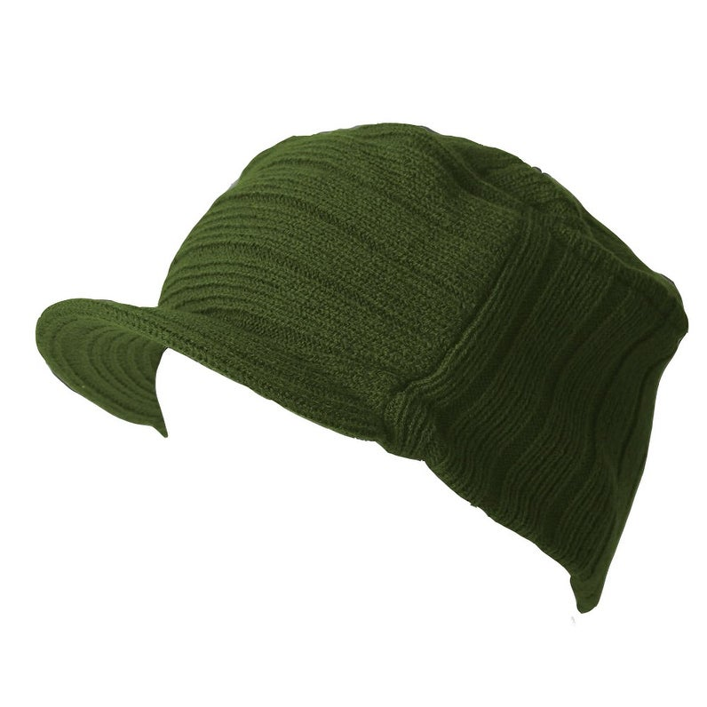 6d315db8a9413 Shop Olive Winter Flat Top Jeep Cap Hat - Free Shipping On Orders Over  45  - Overstock - 20669580
