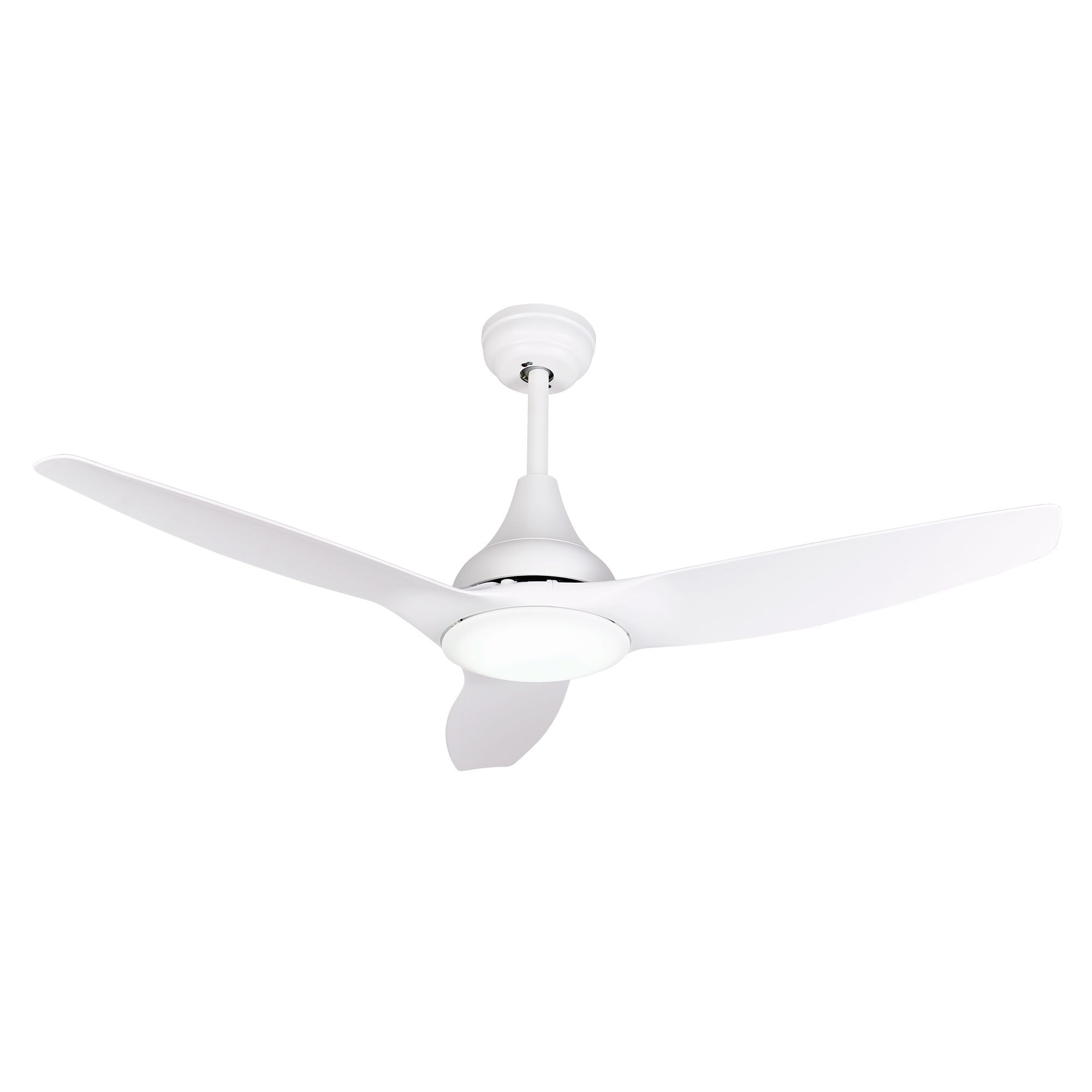 Shop 52 Inch White 3 Blades Led Ceiling Fan With Remote Free