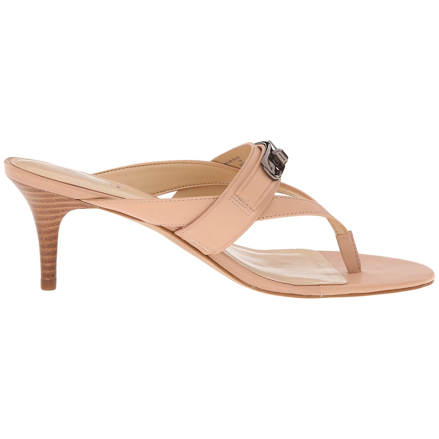 1a9a9d991 Shop Coach Womens Olina Semi Matte Calf Leather Split Toe Casual T-Strap  Sandals - Free Shipping Today - Overstock - 15668388