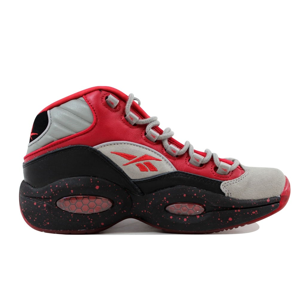 77c752493df Shop Reebok Men s Question Mid Stash Carbon-Red-Black Allen Iverson V61040  - Free Shipping Today - Overstock - 21141316