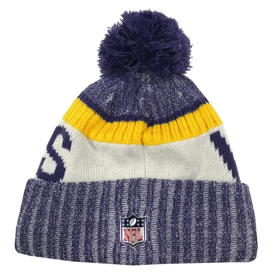 huge discount de995 42c96 ... spain shop new era minnesota vikings knit beanie cap hat nfl on field  sideline 11460391 free