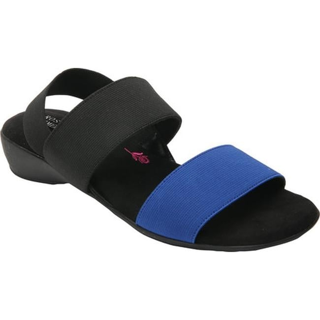 691fe4bab Shop Ros Hommerson Women's Melissa Strappy Sandal Black/Blue Polyurethane -  On Sale - Free Shipping Today - Overstock - 14041141