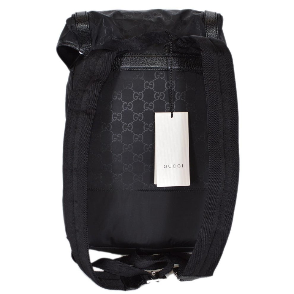 4ee0c2a53de Shop Gucci 510336 Large Black Nylon GG Guccissima Backpack Rucksack Travel  Bag - Free Shipping Today - Overstock - 22102137