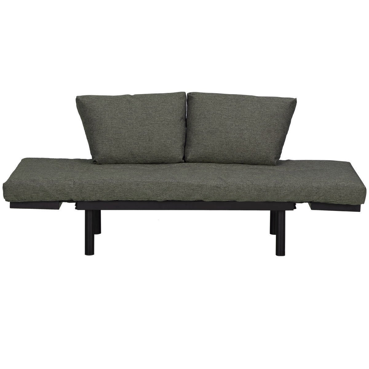 Costway Futon Sofa Sleeper Loveseat Convertible Bed Lounger W Adjule Armrests As Pic Free Shipping Today 22437194