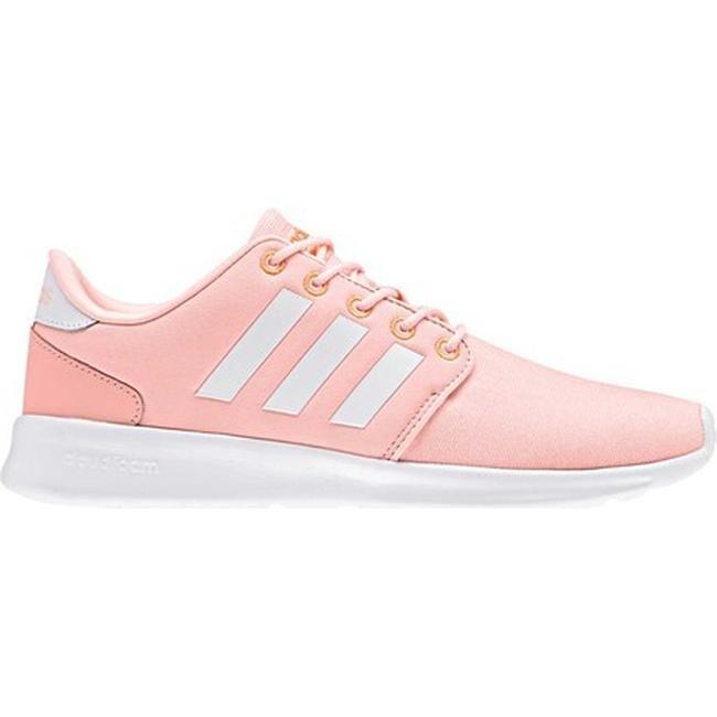 Shop adidas Women s Cloudfoam QT Racer Sneaker Haze Coral Running White Hi-Res  Orange - Free Shipping Today - Overstock - 20754895 a87c3dc86