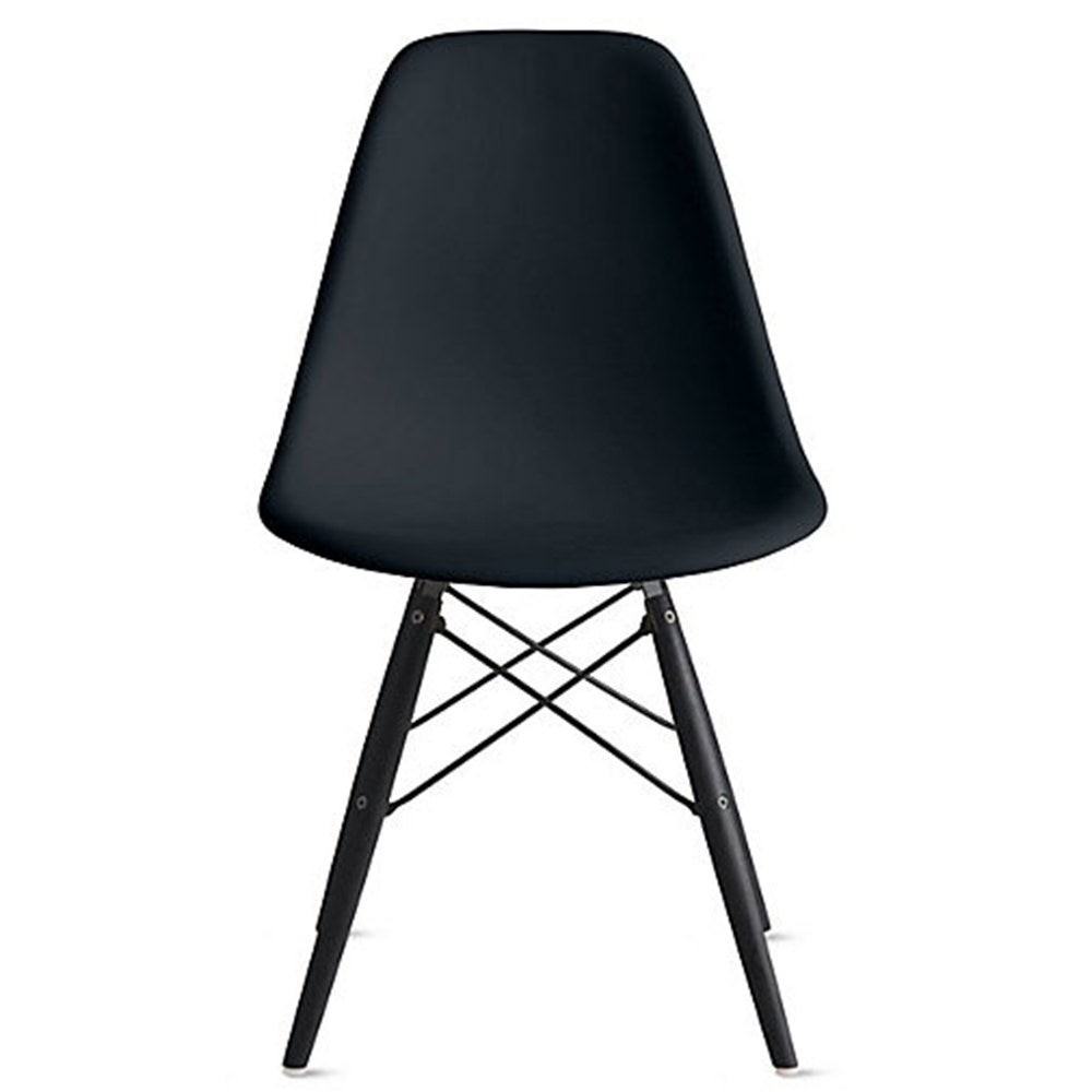 Genial Shop 2xhome Set Of 4 Black Modern Designer Plastic Dining Chairs Dark Black  Wood Leg Base For Home Restaurant Office   Free Shipping Today   Overstock    ...