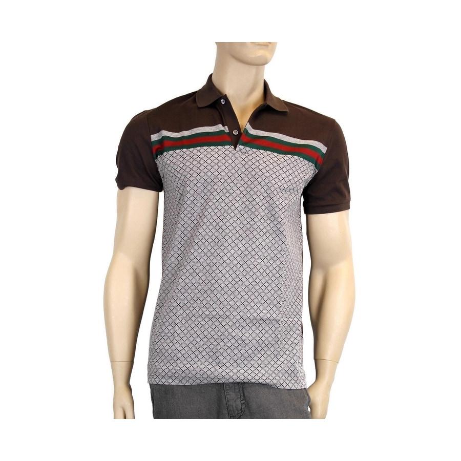 7053234dfa7e Shop Gucci Mens Diamante Polo Shirt Top with GRG 251623 2479 - Free ...