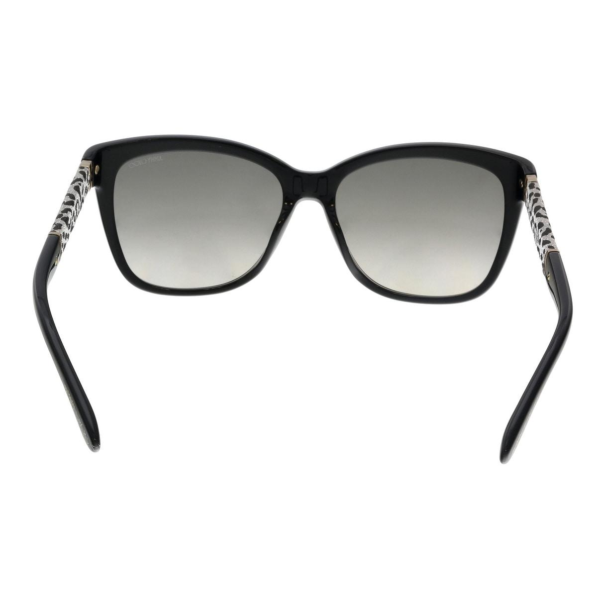 8c8b25fe504 Shop Jimmy Choo CORA S FA3 Black Glitter Square Sunglasses - No Size - Free  Shipping Today - Overstock - 22818035