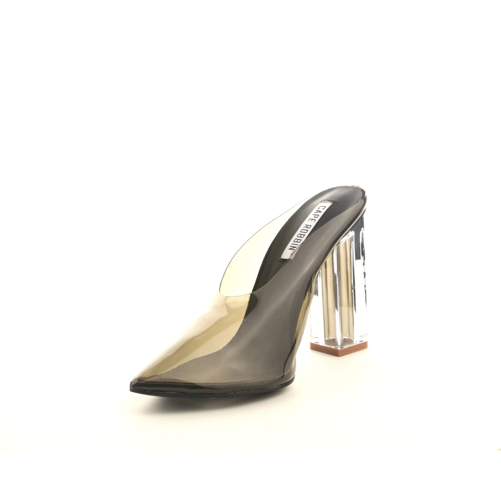 2914ffd4a9 Shop Cape Robbin Atom Women's Lucite Clear Block Chunky High Heel Closed Toe  Open Back Slide Sandal - Free Shipping On Orders Over $45 - Overstock - ...