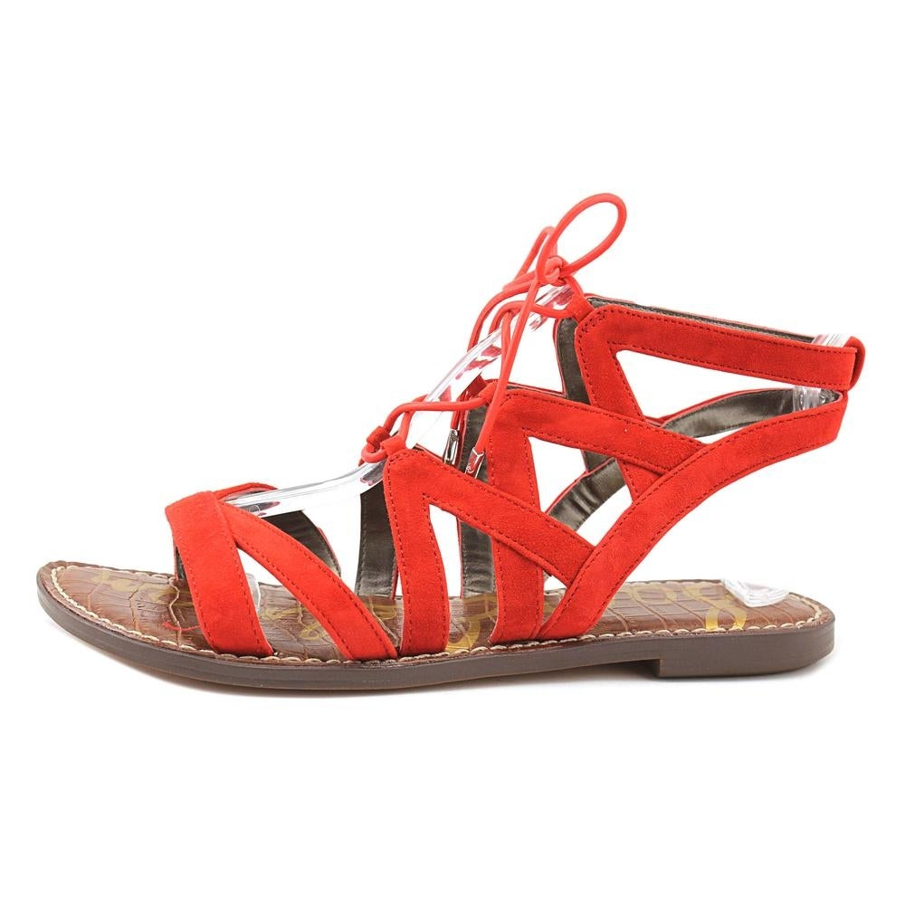 50d6710dceef Shop Sam Edelman Gemma Women Open Toe Suede Red Sandals - Free Shipping On  Orders Over  45 - Overstock - 19316591