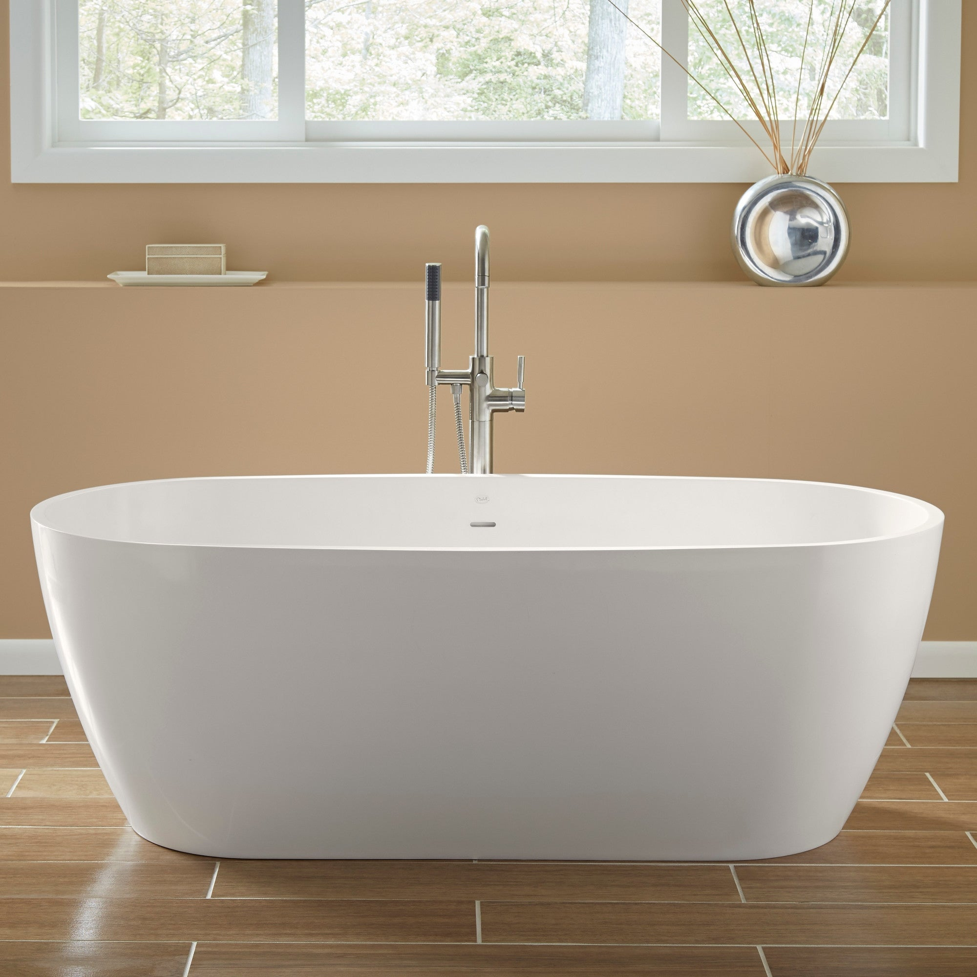 Shop Mirabelle Mirocfs6632 Ocala 66in Free Standing Soaking Tub With
