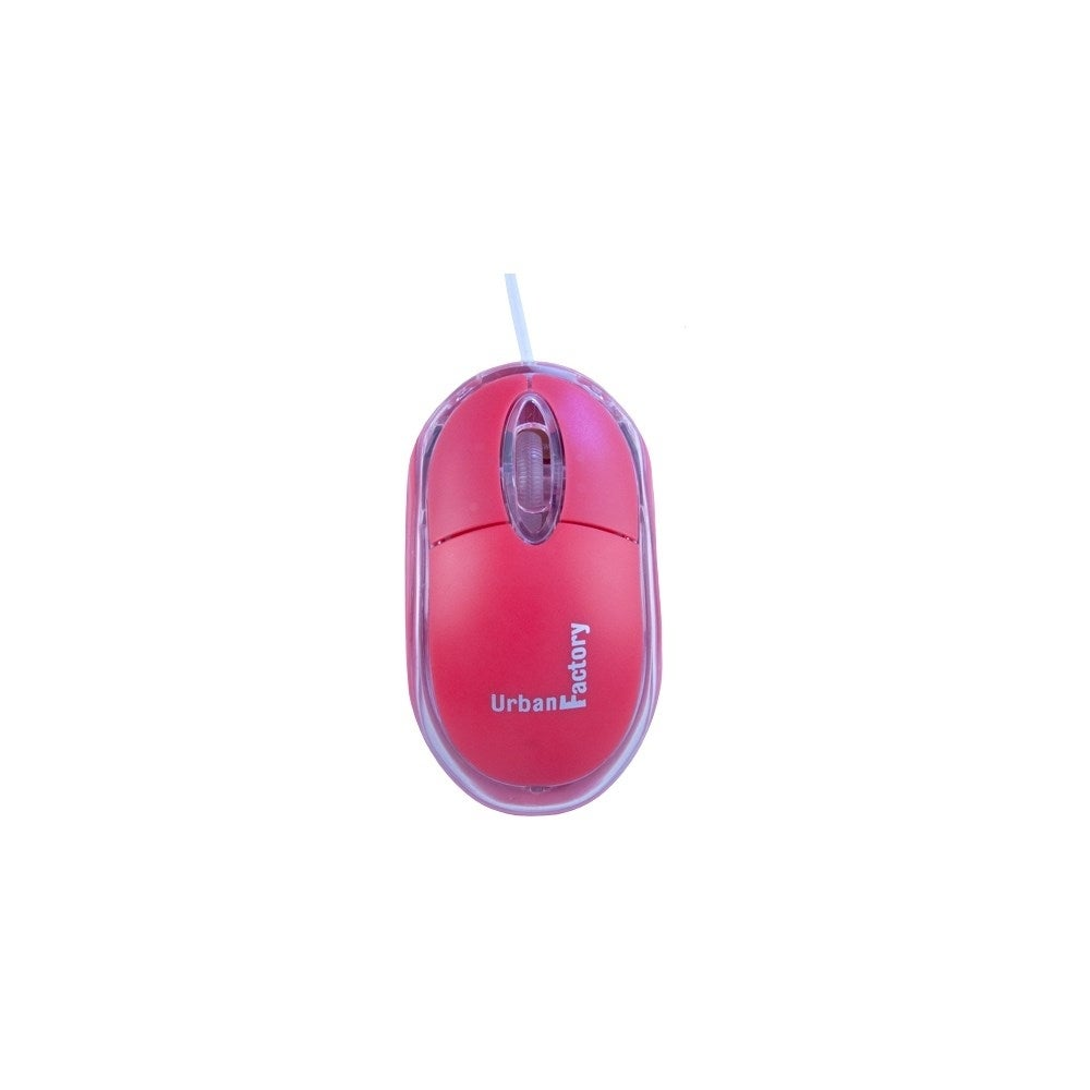 Shop Urban Factory Bdm05uf Krystal Mouse Optical Usb 800 Dpi Cable Red 20 Scroll Wheel 3 Buttons Free Shipping On Orders