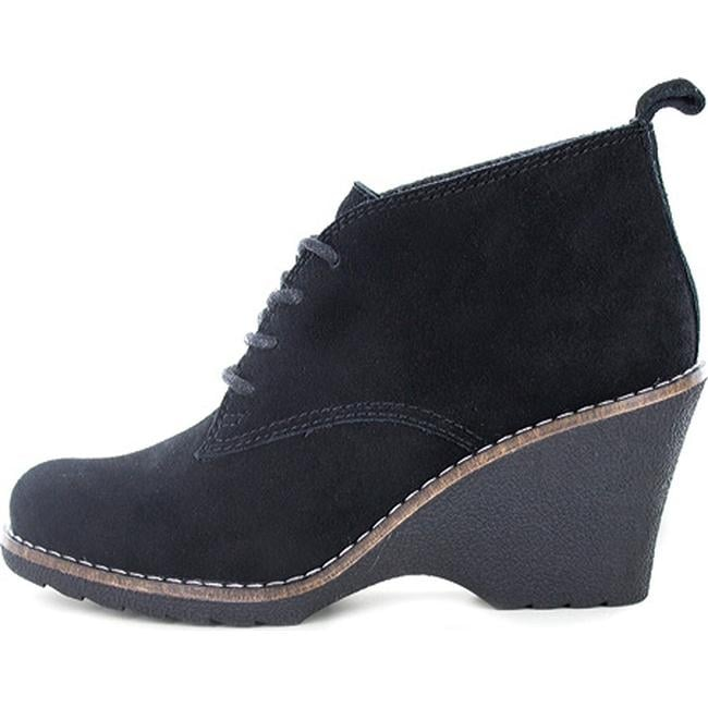 e662515b5e2b Shop White Mountain Women s Lambert Wedge Bootie Black Suede - Free  Shipping On Orders Over  45 - Overstock - 12869449
