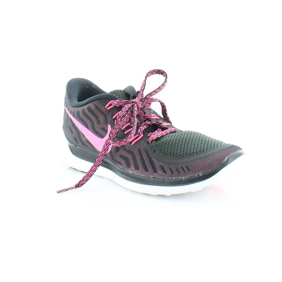 5703eafa76f8 Shop Nike Free 5.0 Tr Fit 4 Women s Athletic Black-PNK - Free ...
