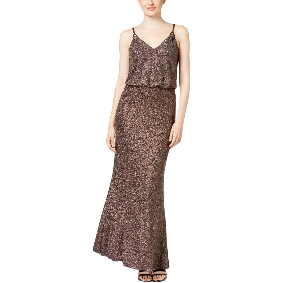 Calvin Klein Womens Evening Dress Metallic Blouson - 12 - Free ...