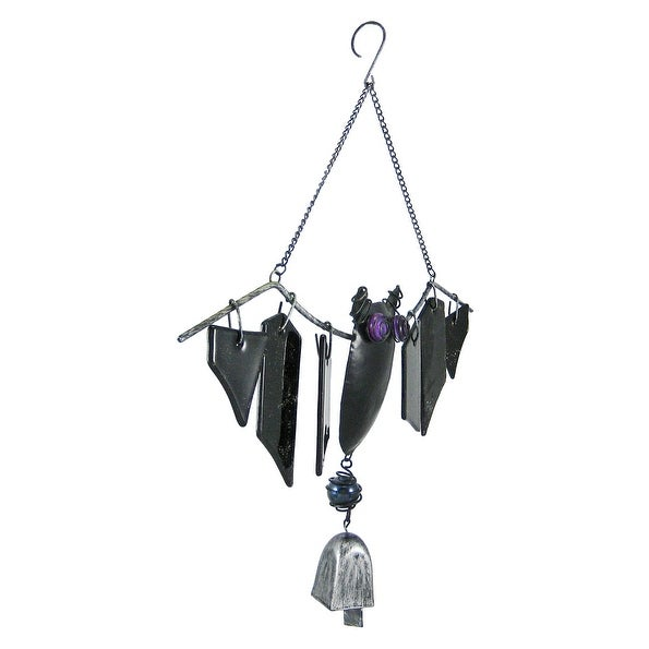 shop cool metal and glass bat windchimes halloween free shipping on orders over 45 overstockcom 17373440