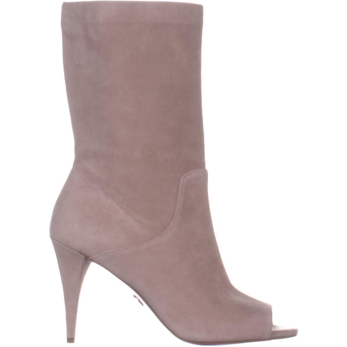7c055e169 Shop MICHAEL Michael Kors Elaine Open Toe Boots, Truffle - 6.5 us / 36.5 eu  - Free Shipping Today - Overstock - 26059023