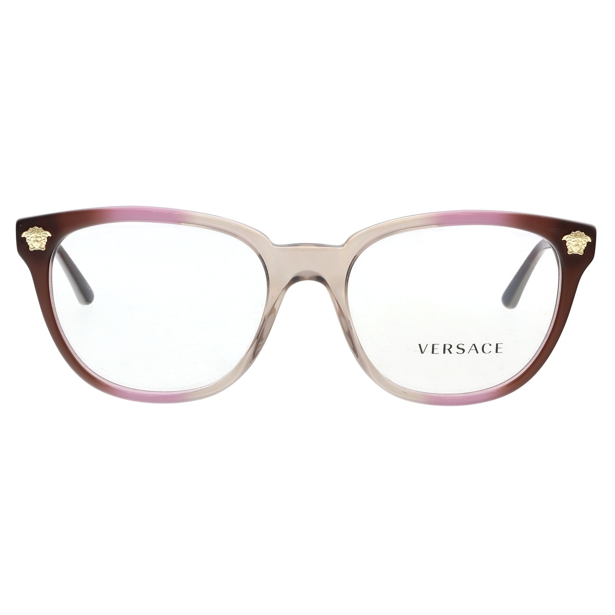 50c1f55533 Shop Versace VE3242 5229 Violet Brown Rectangular Opticals - no size - Free  Shipping Today - Overstock - 24080288